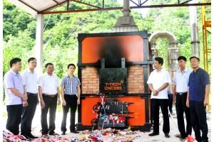 Mô hình xử lý rác thải sinh hoạt bằng lò đốt CNC 330 góp phần bảo vệ môi trường